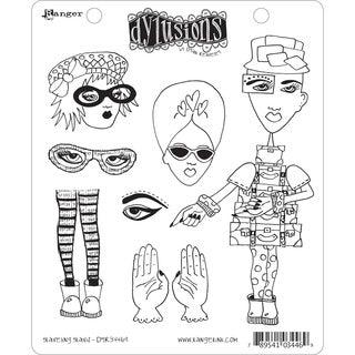 Dyan Reaveley's Dylusions Cling Stamp Collection-Traveling Travis