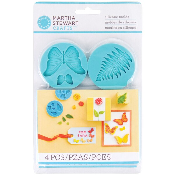 Marth Stewart Baby-blue Silicone Garden-theme Craft Molds (Four-pack)