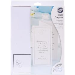 Tri-Fold Invitation Kit 50/Pkg-Sweet Hearts