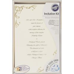 Invitation Kit 50/Pkg-Scrollwork