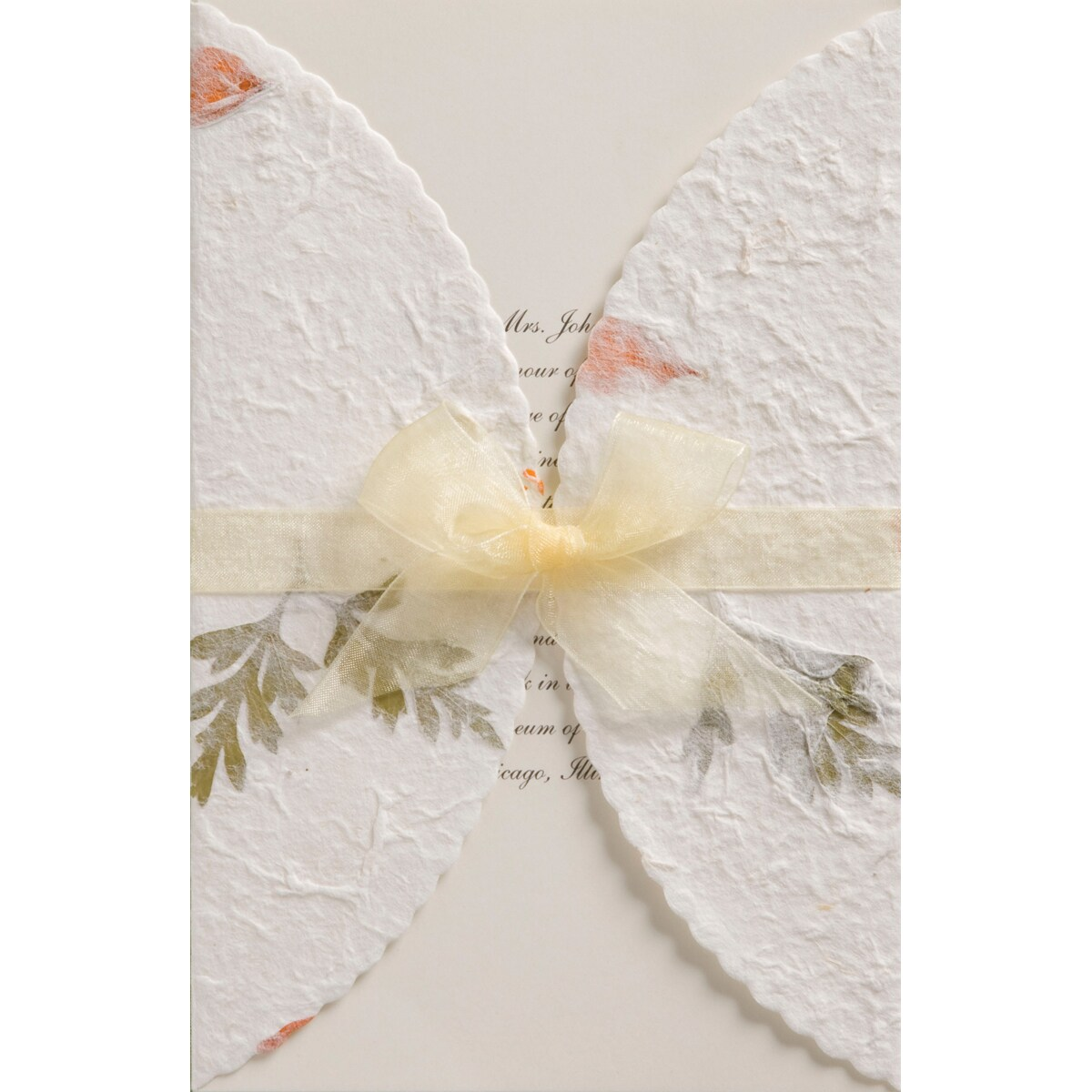 Invitation Kit 50/Pkg-Pressed Floral