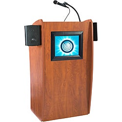 The Vision Floor Lectern with Sound and Digital Display by Oklahoma Sound