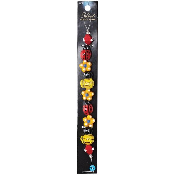 Select Strands Lampwork Beads -Ladybug & Bee