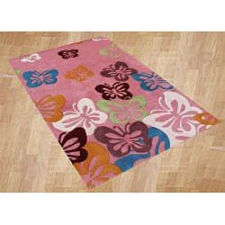 Alliyah Handmade Butterfly Wool Rug (8'x10')