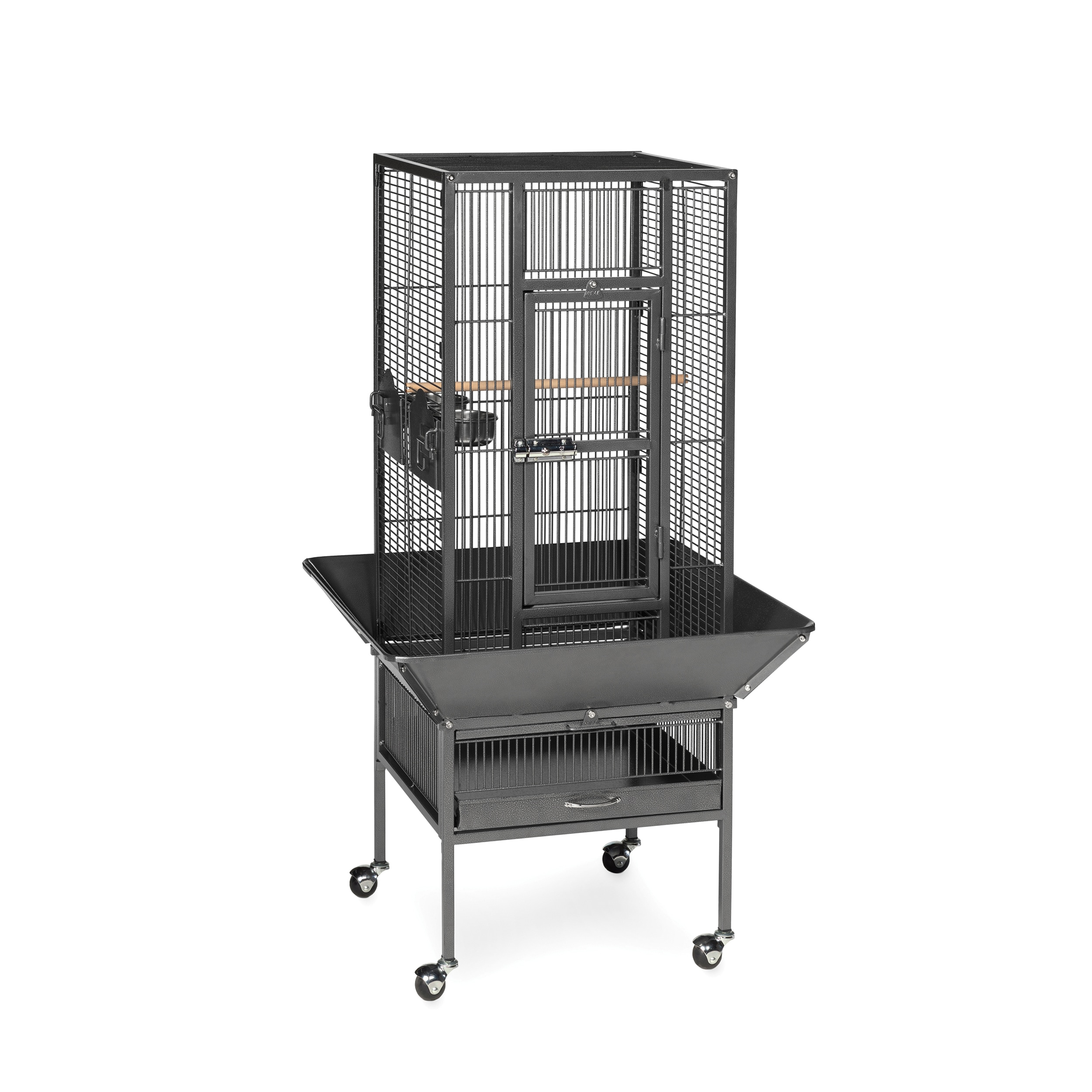 Prevue Pet Products Parkway Wrought Iron Bird Cage Black Hammertone
