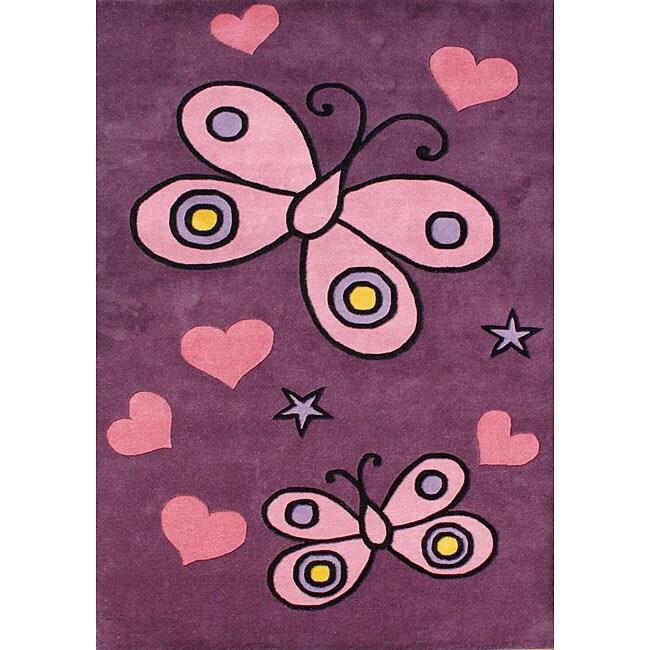 Alliyah Handmade Pink New Zealand Blend Wool Rug (8' x 10')