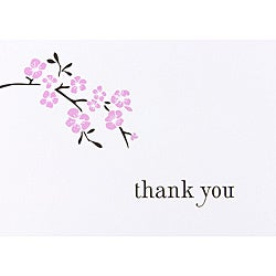 HBH Cherry Blossom Thank You Cards (Set of 50)