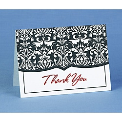 Hortense B. Hewitt Damask Thank You Cards (Set of 50)