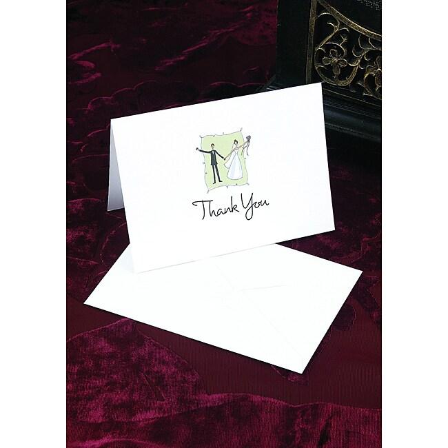 Hortense B. Hewitt Contemporary Couple Thank You Cards (Set of 50)