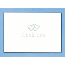 HBH Linked Heart Silver Thank You Cards (Set of 50)