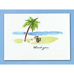 Hortense B. Hewitt Paradise Thank You Cards (Set of 50)