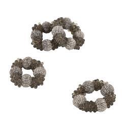 Stylish Beaded Napkin Rings (Set of 4)