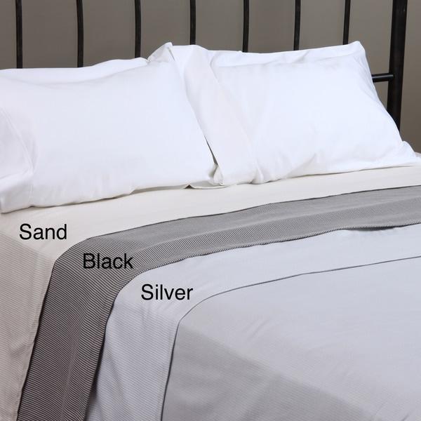 Yarn Dyed Stripe 100-percent Cotton Blanket