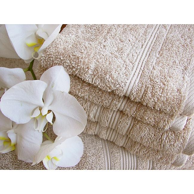 Charisma Linen Beige Premium Hygro Cotton 24-piece Bath Towel Set