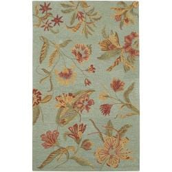 Hand-hooked Multicolored Oconto New Zealand Wool Rug (2' x 3')