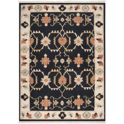 Handwoven Multicolored Portage New Zealand Wool Area Rug (9' x 13')