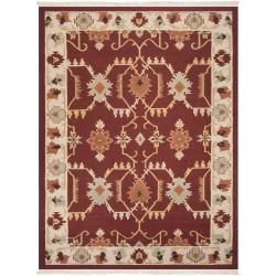 Hand-woven Multicolored Portage New Zealand Wool Rug (8' x 11')