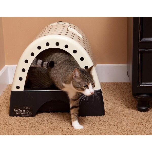 Kitty A Go-Go Polka Dot Print Designer Cat Litter Box