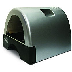 Kitty A GoGo Silver Metallic Designer Cat Litter Box
