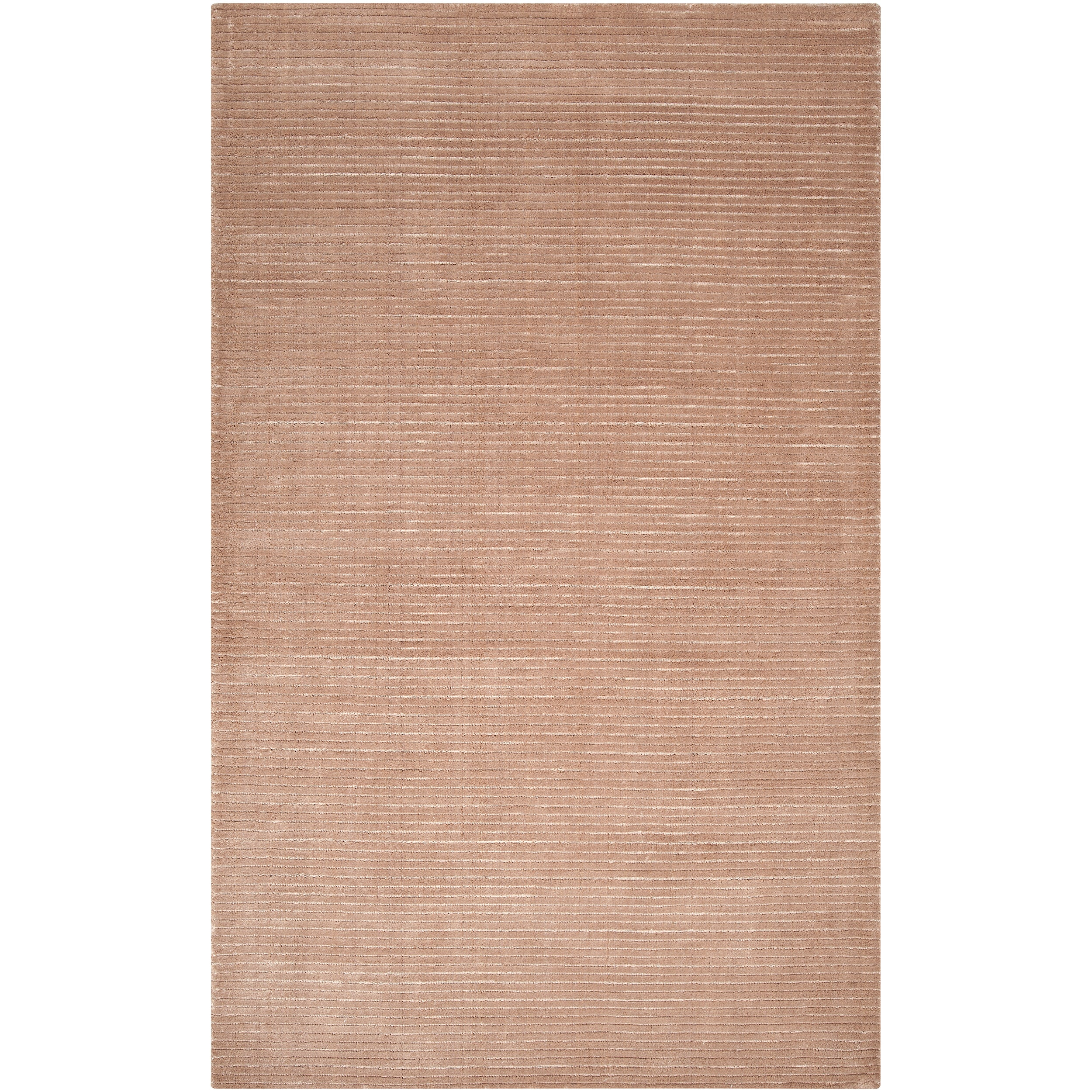 Hand-woven Solid Beige Casual Portage Rug (2' x 3')
