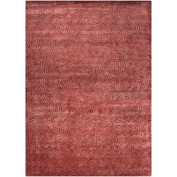 Julie Cohn Hand-Knotted Multicolored Vilas Abstract-Design Wool Area Rug (9' x 13')