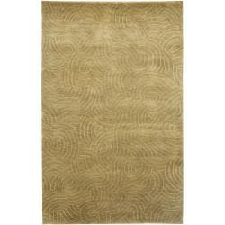 Julie Cohn Olive Hand-Knotted Multicolored Vilas Abstract Design Wool Rug (4' x 6')