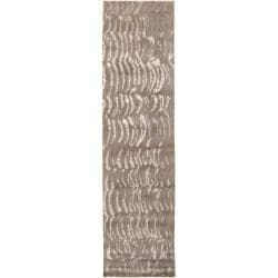 Abstract Julie Cohn Hand-knotted Multicolored Vilas Abstract Design Wool Rug (2 '6 x 10')