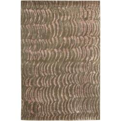 Julie Cohn Hand-Knotted Multicolored Vilas Abstract Design Wool Area Rug (8' x 11')