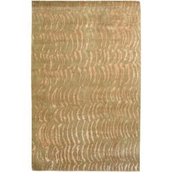 Julie Cohn Hand-Knotted Multicolored Vilas Abstract-Design Rectangular Wool Rug (5' x 8')