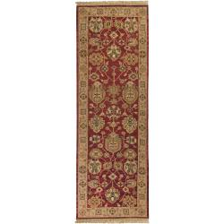 Traditional Hand-Knotted Multicolored Bristol Semi-Worsted New Zealand Wool Rug (4' x 10')