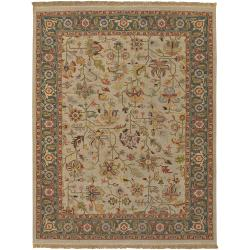 Hand-Knotted Multicolored Bristol Semi-Worsted New Zealand Wool Area Rug (4' x 6')