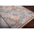 Hand-Knotted Multicolored Bristol New Zealand Wool Accent Rug (2' x 3')