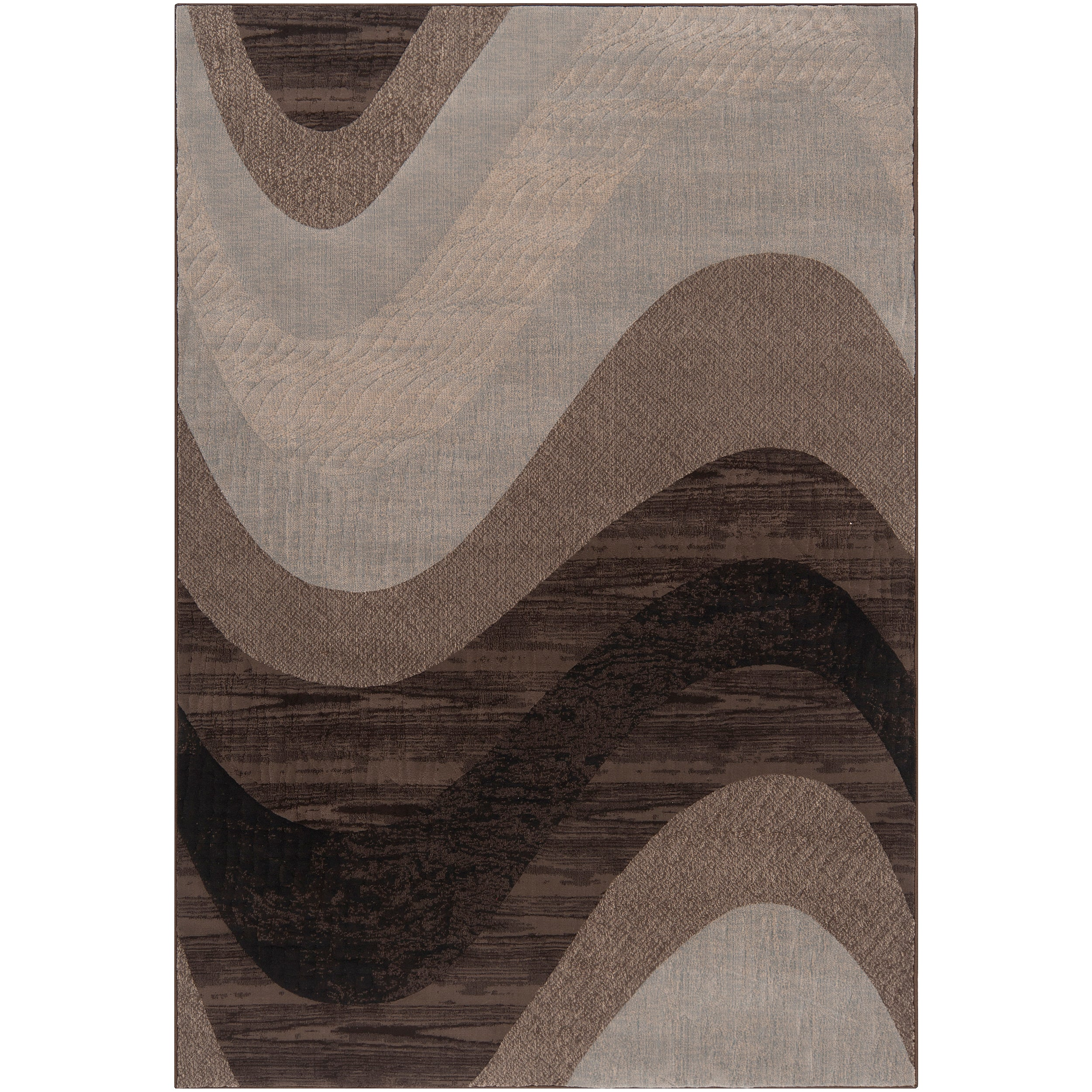 Woven Neutral Toned Haines Abstract Waves Rug (1'10 x 2'11)