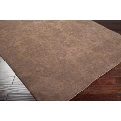 Hand-knotted Brown Haines New Zealand Wool Rug (8' x 11')