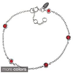 La Preciosa Sterling Silver CZ High-polish Birthstone Bracelet