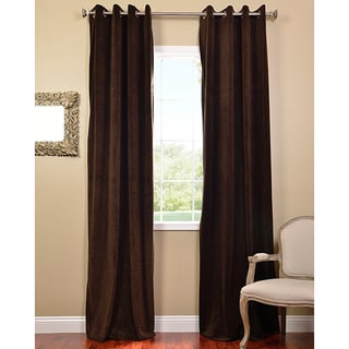 Java Grommet Velvet Blackout Curtain Panel