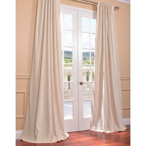 eff ivory grommet velvet blackout curtain panel