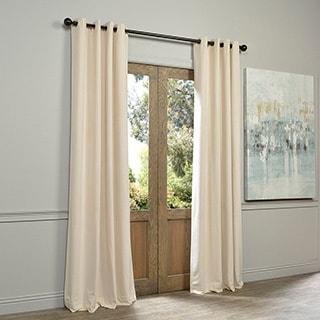Ivory Grommet Velvet Blackout Curtain Panel