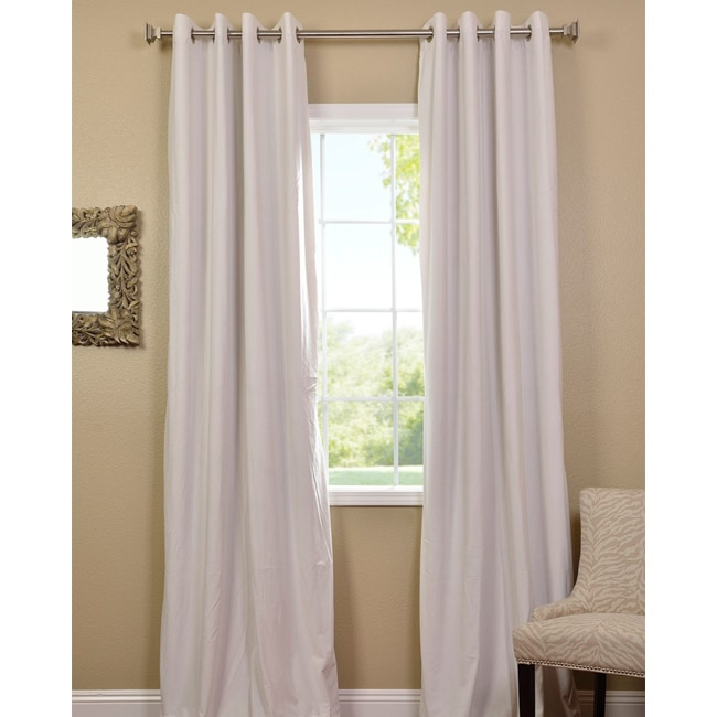 EFF Off White Grommet Velvet Blackout Curtain Panel at Sears.com
