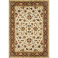Alliyah Handmade Vanilla Custard, Deep Taupe, Sterling Blue, Black, Orange Rust, Raffia Green New Zealand Wool Rug (9' x 12')