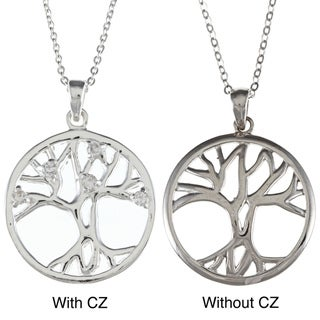 La Preciosa Sterling Silver Circle 'Tree of Life' Pendant