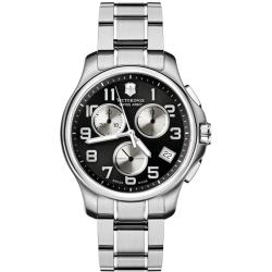 Victorinox Swiss Army Men's Officer's Chrono Silver Subdial Stainless Bracelet Watch