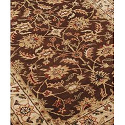 Alliyah Handmade Brown 100 Percent New Zealand Wool Rug  (5' x 8')