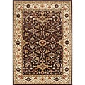 Taj Mahal Hand Made Chocolate Brown 100% New Zealand Wool Rug (8'x10')