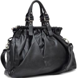 Dasein Ruched Zip-Top Satchel