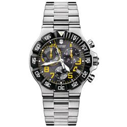 Victorinox Swiss Army Men's Summit XLT Chronograph Black/ Yellow Dial Watch