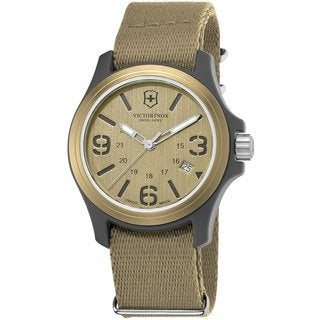 Victorinox Swiss Army Men's 241516 Original Tan Dial/ Strap Watch