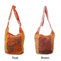 Washed Patch Hemp Bag (Nepal)
