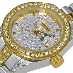Akribos XXIV Women's Diamond Quartz Bracelet Round Watch