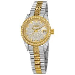 Akribos XXIV Women's Diamond Quartz Bracelet Round Watch